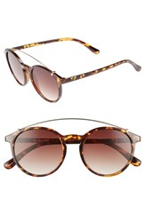 Bp. Round Aviator Sunglasses Tort Brown Tort Brown