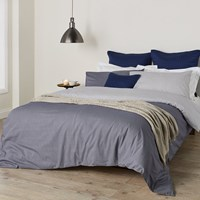 Christy Kimono Pattern Duvet Set Midnight Blue