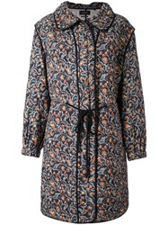 Isabel Marant Quilted Floral Coat Women Silk Cotton 38
