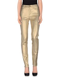 Roccobarocco Trousers Casual Trousers Women Gold