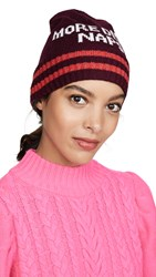 Kate Spade New York More Disco Naps Beanie Hat Midnight Wine