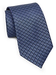 English Laundry Neat Floral Patterned Silk Tie Navy