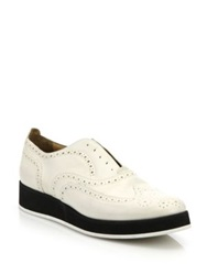 Rag And Bone Meli Wingtip Leather Brogues Off White