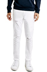Topman Stretch Skinny Fit Jeans White