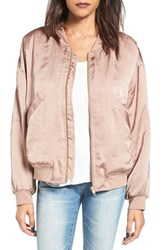 Leith Women's Satin Bomber Jacket Tan Antler