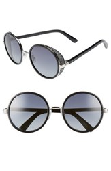 Jimmy Choo Women's Andiens 54Mm Round Sunglasses Palladium Black Palladium Black