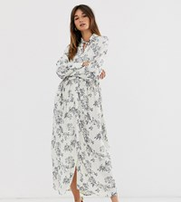 Soaked In Luxury Floral Maxi Shirt Dress Multi