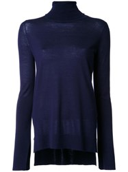 Studio Nicholson Turtleneck Jumper Blue