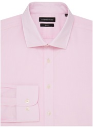Austin Reed City Slim Fit Oxford Shirt Pink