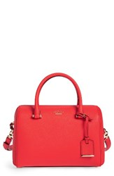 Kate Spade New York Cameron Street Large Lane Leather Satchel Red Prickly Pear