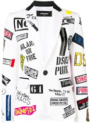 Dsquared2 Patched Blazer White