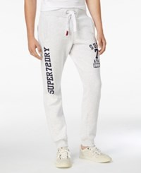 Superdry Men's Trackster Graphic Print Joggers Ice Marl