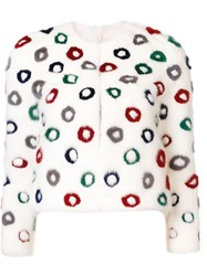 Carolina Herrera Donut Pattern Jacket White