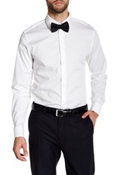 14Th And Union Solid Spread Collar Trim Fit Dress Shirt White