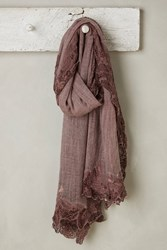 Anthropologie Edera Lace Scarf Pink