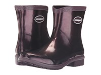 Havaianas Galochas Low Metallic Rain Boot Aubergine Metallic Women's Rain Boots Black