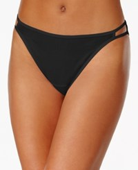 Vanity Fair Illumination Heathered Cotton Bikini 18315 Midnight Black
