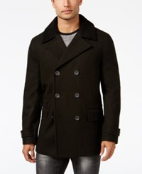 Inc International Concepts Men's Double Breasted Pea Coat Only At Macy's Charcoal