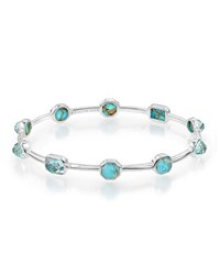 Ippolita 925 Rock Candy Bronze Turquoise Station Bangle