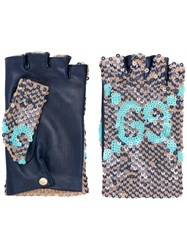 Gucci Sequined Fingerless Gloves 60