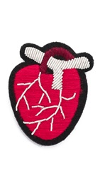 Macon And Lesquoy Anatomical Heart Pin Red