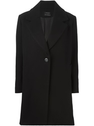 Anthony Vaccarello Straight Fit Classic Coat Black
