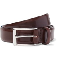 J.Crew 3Cm Brown Glossed Leather Belt Brown