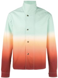 J.W.Anderson Standing Collar Buttoned Jacket Green