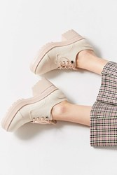 Urban Outfitters Emilie Canvas Bubble Toe Oxford Rose