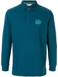 Gieves And Hawkes Long Sleeved Polo Shirt Blue