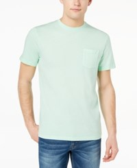 Club Room Men's Heathered T Shirt Created For Macy's Garden Mint