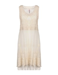 Scee By Twin Set Short Dresses Ivory