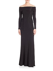 Yigal Azrouel Ruched Off The Shoulder Gown Black