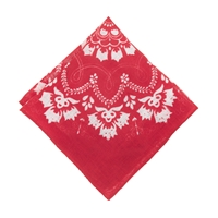 J.Crew Linen Pocket Square In Red Bandana Print