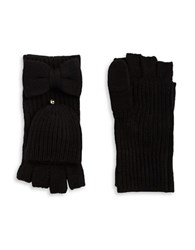 Kate Spade Bow Accented Convertible Gloves Black