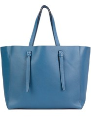 Valextra Shopper Tote Blue