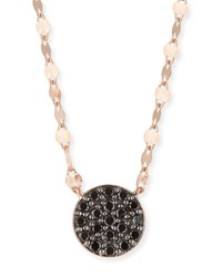 Lana 14K Reckless Black Diamond Pave Pendant Necklace Rose Gold