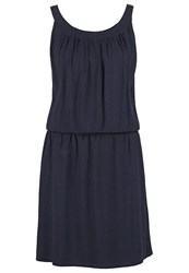 Opus Wajala Summer Dress Lush Blue Dark Blue
