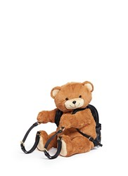 Moschino Teddy Bear Leather Backpack Brown