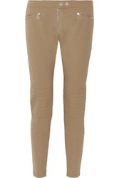 Belstaff Barbican Cotton Blend Skinny Leg Pants Nude