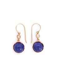 Irene Neuwirth Tanzanite And Diamond Drop Earrings Metallic