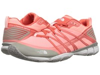 The North Face Litewave Ampere Neon Peach Tropical Coral Women's Shoes Pink