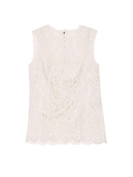 Dolce And Gabbana Sleeveless Floral Lace Top
