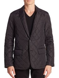 Ralph Lauren Hillsdale Quilted Sportcoat Polo Black