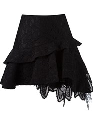 Martha Medeiros Lace Flared Skirt Black