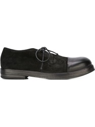 Marsell Marsell Contrasted Toe Cap Derby Shoes Black