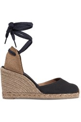 Castaner Carina Canvas Wedge Espadrilles Midnight Blue