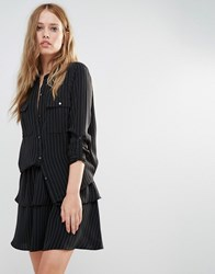 Y.A.S Silla Shirt Black Striped