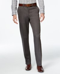 Haggar Straight Fit Performance Microfiber Dress Pants Med Grey