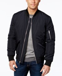 Vince Camuto Men's Lined Bomber Jacket Navy